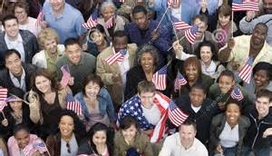 People by flag
